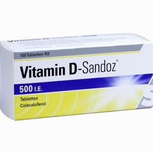 Abbildung von Vitamin D- Sandoz 500 I. E. Tabletten 100 Stück