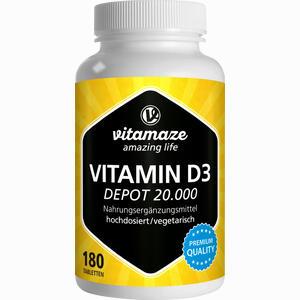 Abbildung von Vitamin D3 Depot Hochdosiert 20000 Ie Vispura Tabletten 180 Stück