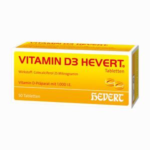 Abbildung von Vitamin D3 Hevert Tabletten 50 Stück