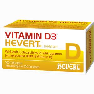 Abbildung von Vitamin D3- Hevert Tabletten 200 Stück