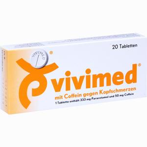Abbildung von Vivimed mit Coffein gegen Kopfschmerzen Tabletten 20 Stück