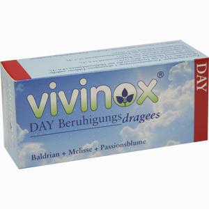 Abbildung von Vivinox Day Beruhigungsdragees mit Baldrian, Melisse und Passionsblume Tabletten 40 Stück