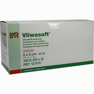 Abbildung von Vliwasoft Vliesstoff- Kompresse Steril 10x20cm Kompressen 50 Stück
