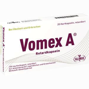 Abbildung von Vomex A Retardkapseln N  20 Stück