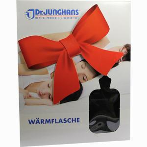 Abbildung von Wärmflasche mit Flauschbezug Schwarz 1 Stück