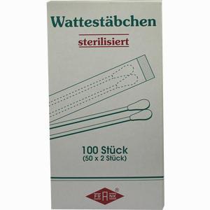 Abbildung von Wattestäbchen Holz M Wattekopf Sterilisiert 50X2 Stück