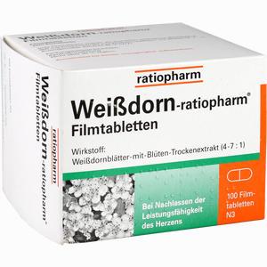 Abbildung von Weißdorn- Ratiopharm Filmtabletten  100 Stück