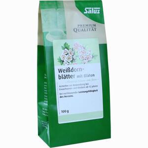 Abbildung von Weissdornblätter mit Blüten Arzneitee Bio Salus Tee 100 g