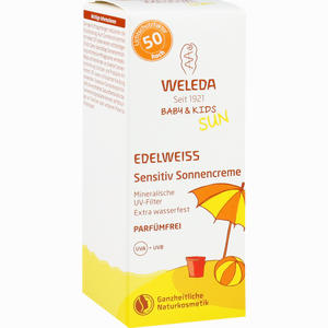 Abbildung von Weleda Edelweiss Sensitiv Sonnencreme Lsf 50 50 ml