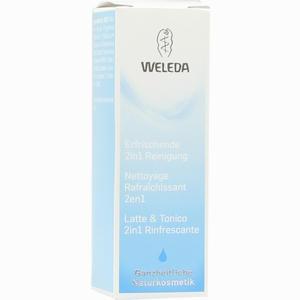 Abbildung von Weleda Erfrischende 2in1 Reinigung Milch 10 ml