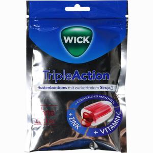 Abbildung von Wick Tripleaction Menthol & Cassis Oz Bonbon 72 g