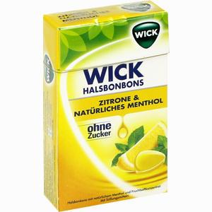 Abbildung von Wick Zitrone & Natürliches Menthol Ohne Zucker Bonbon 46 g
