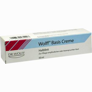 Abbildung von Wolff Basis Creme Halbfett  50 ml