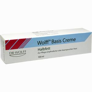 Abbildung von Wolff Basis Creme Halbfett  100 ml