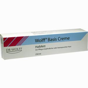 Abbildung von Wolff Basis Creme Halbfett  250 ml