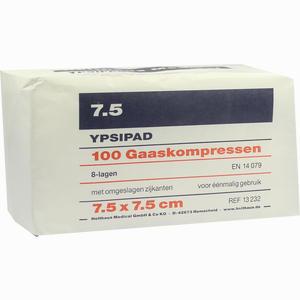 Abbildung von Ypsipad Mullkompressen Unsteril 8- Fach Gefaltet 7.5 X 7.5cm  100 Stück