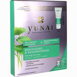 Abbildung von Yunai Beruhigende Tuchmaske + Regenerierendes Serum 1 Packung