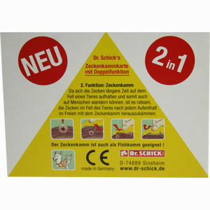 Abbildung von Zeckenkammkarte 1 Stück
