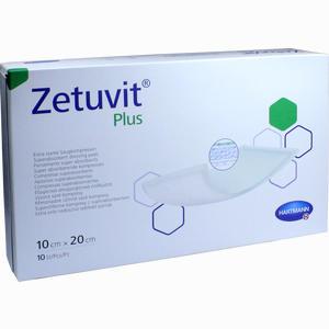 Abbildung von Zetuvit Plus Extrastarke Saugkompresse Steril10x20cm Kompressen 10 Stück