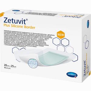 Abbildung von Zetuvit Plus Silicone Border 20 Cm X 25 Cm 10 Stück