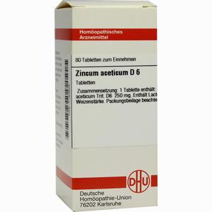 Abbildung von Zincum Aceticum D6 Tabletten  80 Stück
