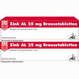 Abbildung von Zink Al 25mg Brausetabletten  40 Stück