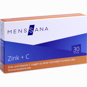 Abbildung von Zink + C Menssana Lutschtabletten 30 Stück