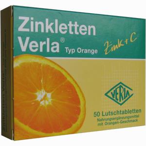 Abbildung von Zinkletten Verla Orange Lutschtabletten 50 Stück
