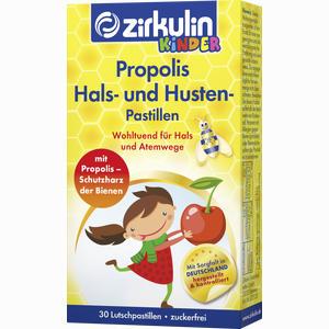Abbildung von Zirkulin Propolis Hals- und Husten Pastillen Kids  30 Stück