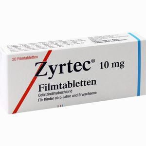 Abbildung von Zyrtec Filmtabletten 20 Stück