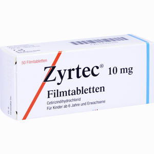 Abbildung von Zyrtec Filmtabletten Ucb pharma gmbh 50 Stück